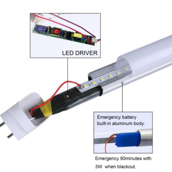 High Power T8 Emergency LED Tube with Glass pictures & photos