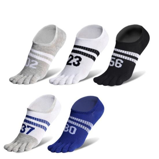 MEN WOMEN/'S Comfortable Cotton Low Cut Sports Five Fingers Toe Ankle Crew Socks