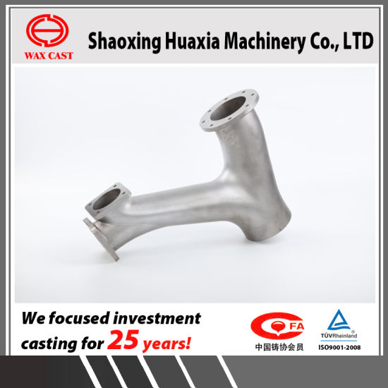 Investment Casting Lost Wax Casting Precision Casting Stainless Steel Valve Parts Disch Y Manifold