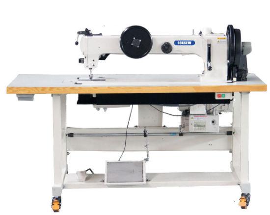 Long Arm Compound Feed Walking Foot Heavy Duty Lockstitch Sewing Machine