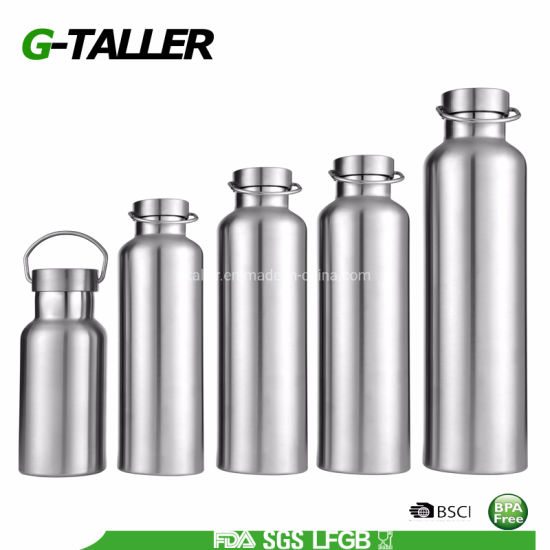 Double Wall Vacuum Insulated Stainless Steel Sports Water Bottle