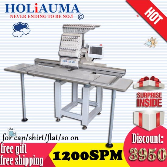 Holiauma Single Head Tubular Cap 3D Embroidery Machine Same Quality Like Tajima Brother Embroidery Machine