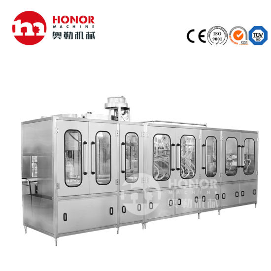 3L/5L/8L/10L Pet Plastic Bottle Drinking Pure Water Soft Drink Beverage Automatic Blowing Washing Filling Capping Screwing Labeling Packing/Packaging Machine