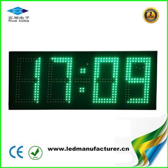 7 Inch Outdoor Waterproof Green LED Digital Clock