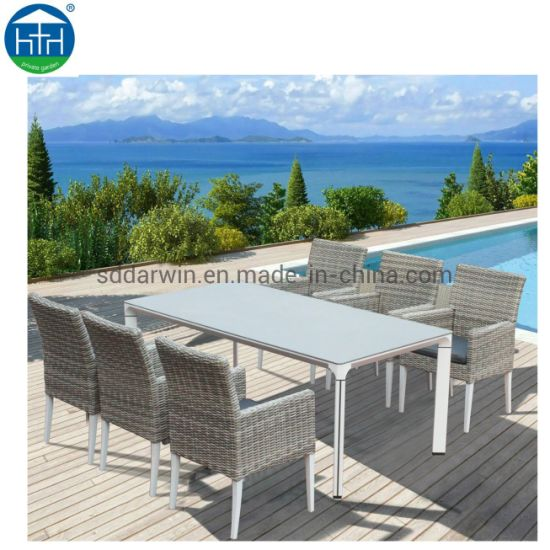 Luxury Patio Wicker Garden Outdoor Furniture Rattan Outdoor Furniture for Dining Set