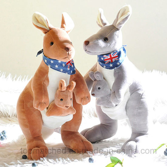 China Baby Gift Stuffed Animal Toy Blue Plush Doll Kangaroo China