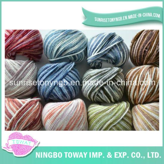 Crochet Colorful Wholesale Machine Knitting Acrylic Wool Yarn (TW-T02)