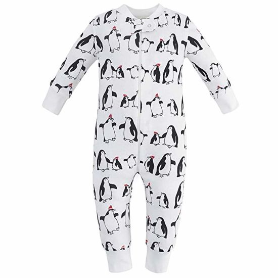 af88c6ec4834 China Organic Cotton Baby Boy Girl Zip up Sleep N Play