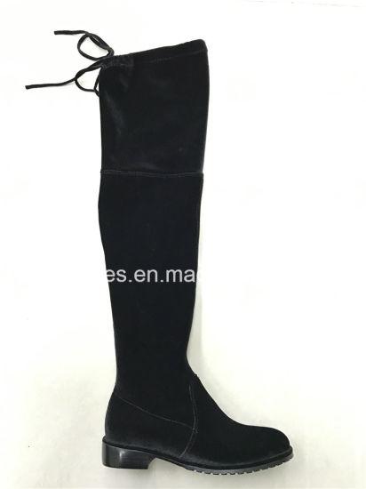Latest Elegant Elastic Thigh High Lady Boots