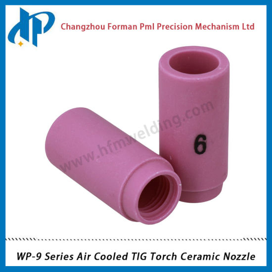 10P Ceramic 13N10 6# Alumina Shield Cup TIG Welding Torch Nozzle for WP-9 20 25