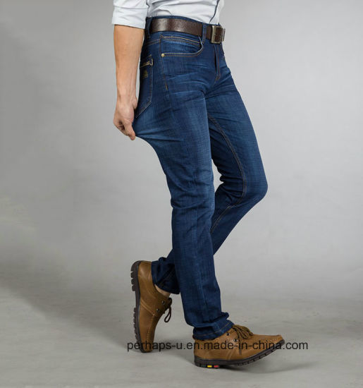 Fashion Mens Business Jeans with MID-Wash pictures & photos