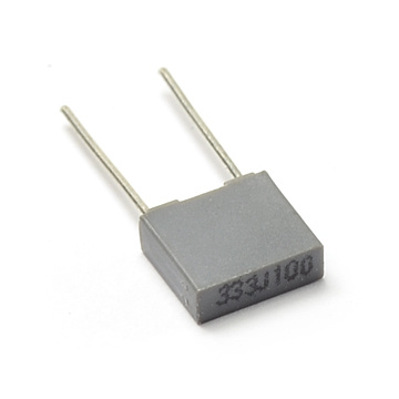 Mini Yellow and Gray Box 5mm Metallized Polyester Film Capacitor Tmcf07 pictures & photos