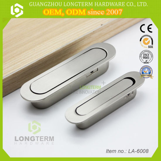 Solid Best Quality Durable Furniture Drop Recessed Handle Concealed Hidden  Cabinet Door Handle