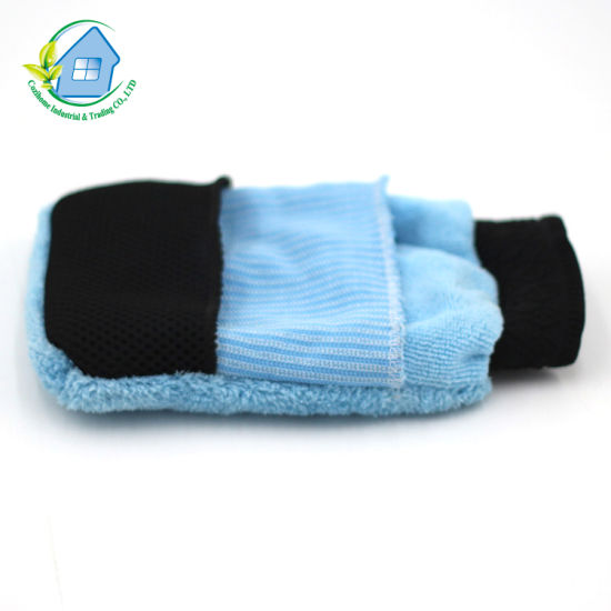 Double Side Microfiber Cleaning Multi-Purpose Use Pocket Glove for Car Washing