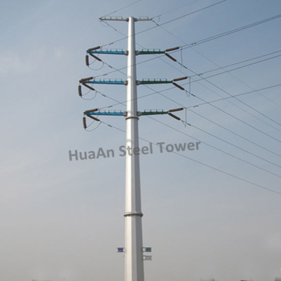 0.4kv-500kv Electricity Power Transmission Galvanized Steel Tubular Column