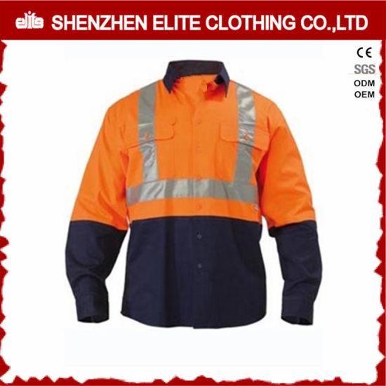 Wholesale Reflective Work Shirts Men Cotton Work Shirts (ELTHVSI-4)