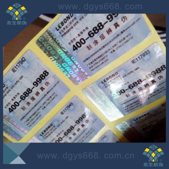 China High Quality Anti-Counterfeiting Scratch off Code