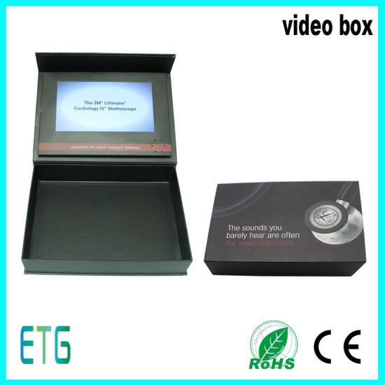 7 Inch TFT LCD Screen Luxury Digital Video Cards Brochure and Gift Box pictures & photos