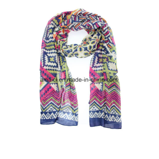 Polyester Printed Dyed Scarveajm600012340) pictures & photos