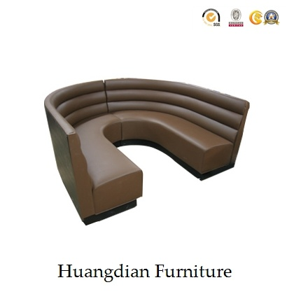 Wooden Leg and Fabric Half Circle Restaurant Sofa Seat (HD669) pictures & photos