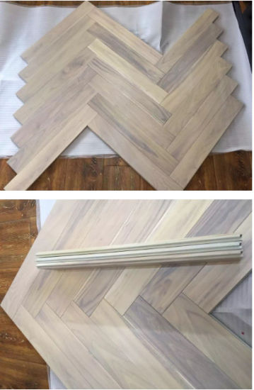 bleached white chinese teak herringbone wood flooring - Bleached Wood Flooring