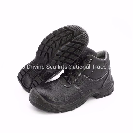 PU Injection Molded Sole Leather Fabric Safety Boot/Safety Shoes/Work Shoes