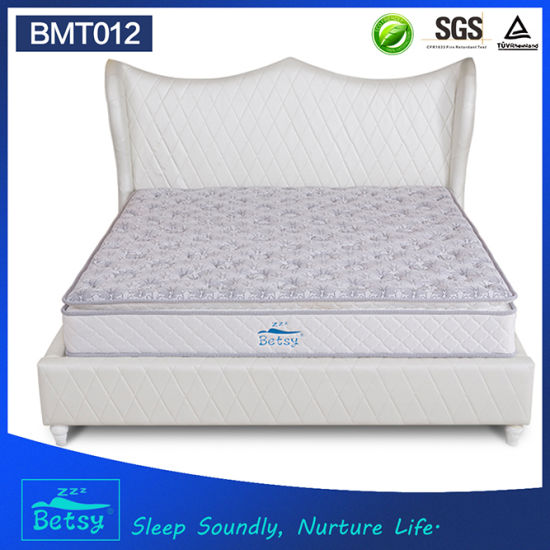 OEM Resilient Mattresses Prices 24cm Deluxe Pillow Top Design with Bonnell Spring and Foam Layer pictures & photos