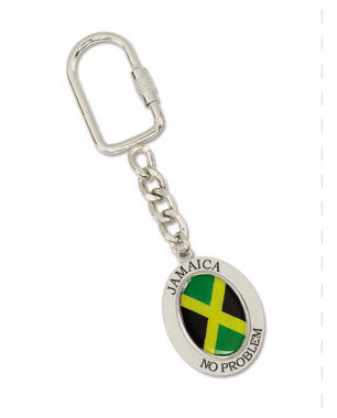 Customized Souvenir Metal Flag Keychain
