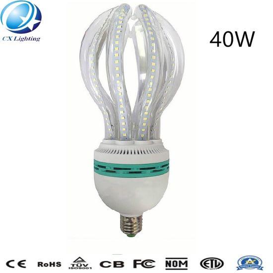 40W E27 Highlight Glass Clear Milky Lotus Shape LED Energy Saving Lamp