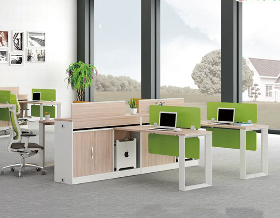 Office Furniture Melamine Workstation Desk with Parition pictures & photos