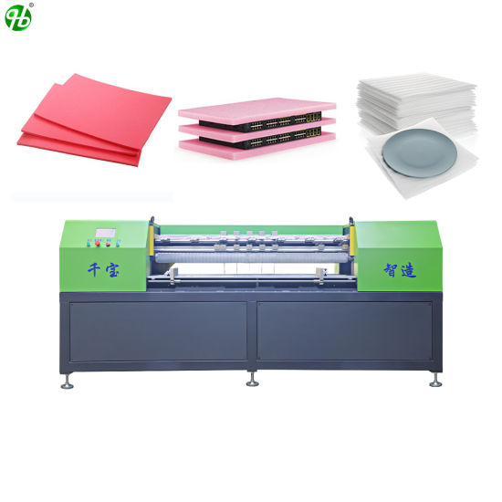 High Speed High Accuracy Electric Automatic XLPE XPE EPE PE Film Foam Sheets Planks Rolls Blocks Slitting Slitter Smart Cutter Auto CNC Cutting Machine