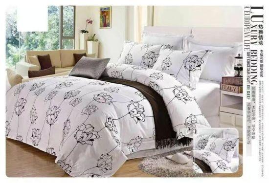 Luxury Home Textile Queen Size 100% Cotton Reactive Printing Home Bedding