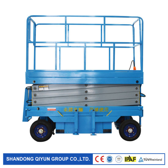 100kg 200kg 300kg 400kg 500kg Hydraulic Scissor Lift Electric Small Electric Motor Mobile Scissor Lift