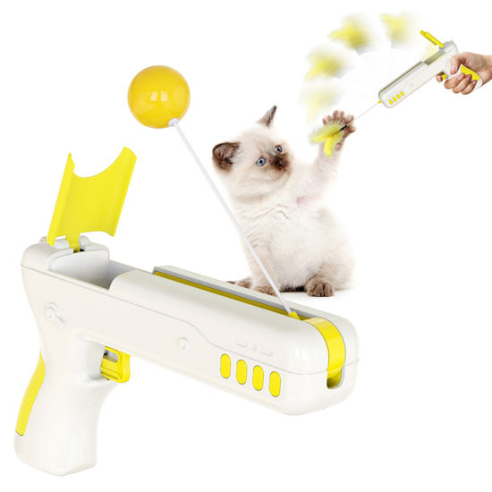 Wholesale Christmas Pet Toys Funny Toy for Cat Pet Cat Interactive Teaser Stick Rebound Gun Interactive Cat Toys