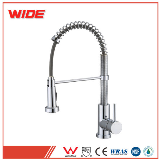 China Unique High Quality Hot Cold Water Kitchen Faucet With Pull