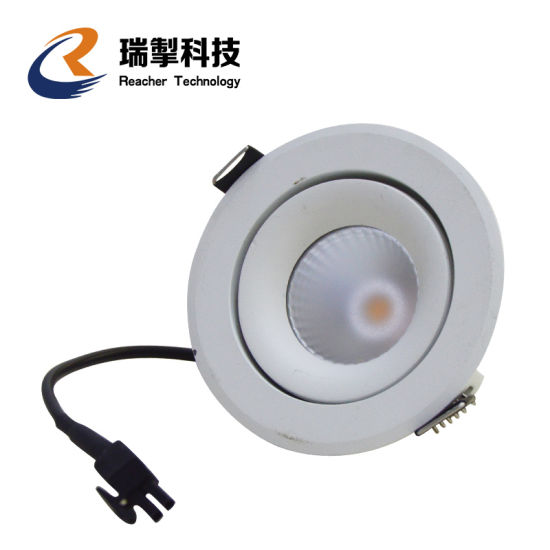 Supermarket Lighting COB Round Dimmable Surface Mounted Recessed 12W LED Downlight, 7W 15W 30W 40W Indoor LED Down Lights