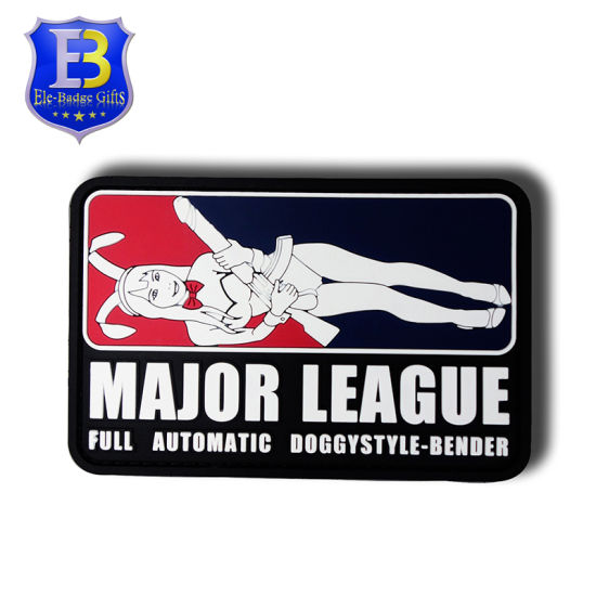 New Product Embossed Basketball Logo PVC Rubber Patch with Free Sample