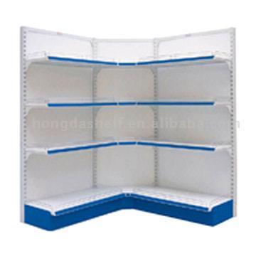 Single-Side of Inside Corner Display Shelf