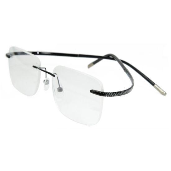 China Classic Metal Tr Reading Eye Glasses Frame Frameless Spectacle ...
