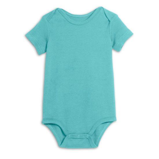 Bkd Gots Certification Organic Plain Color Unisex Baby Bodysuit