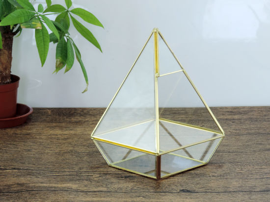Tabletop Geometric Glass Terrarium Box Pot Plant Planter pictures & photos