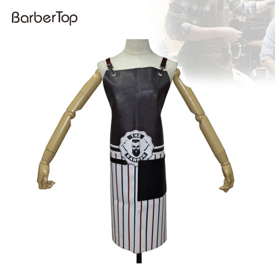 Waterproof Apron Dress Fashion Durable Apron with Pocket Hair Cutting Hairstylist Hair Stylist Tool Barber Bib Bartender