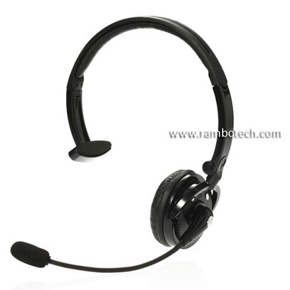 Black/ White Over Head Design Bluetooth Headset, Support Two Mobile Phone