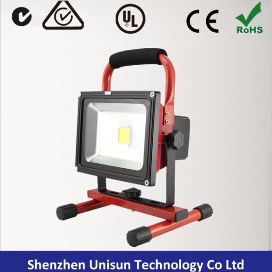 AC100-240V Rechargeable 20W 120degree LED Flood Light with Magnetic Base pictures & photos