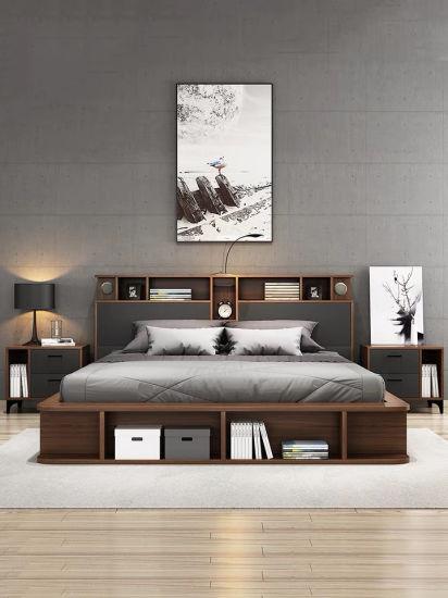 Newest Design Wholesale Melamine King Size Bed Home Living Room Bedroom Furniture Sets
