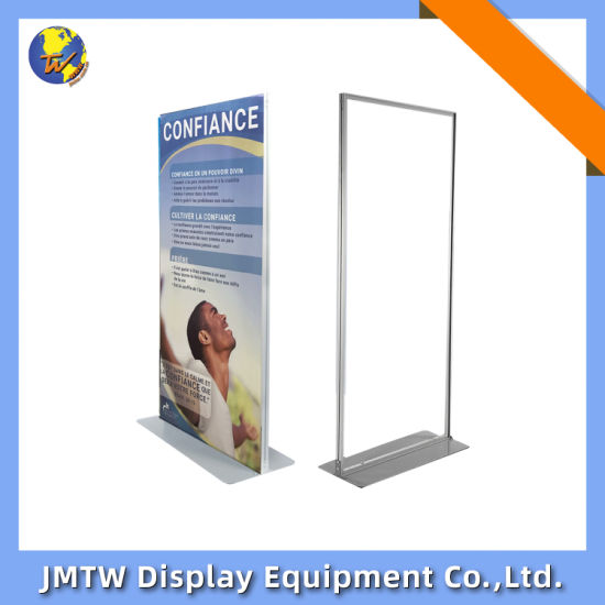 Durable Stable Door Shape PVC Foam Board Banner Stand for Advertising with Steel Plate Base