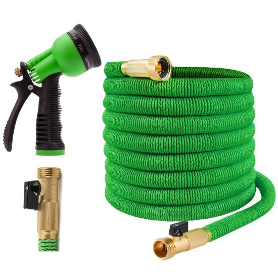 Heavy Duty Expandable Hose Set. 50FT. with Brass Couplings