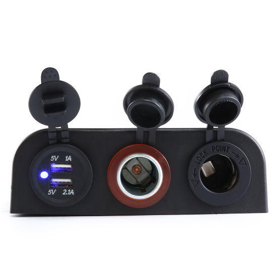 Power Socket Cigarette Lighter Tent Type 3.1A USB Charger Panel