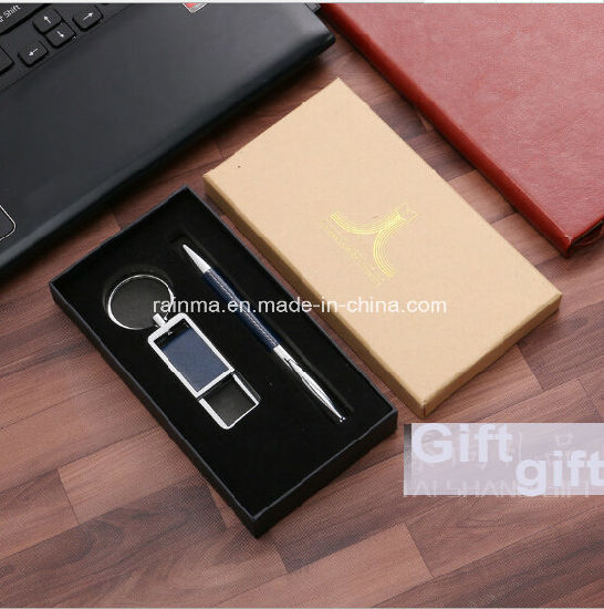 2018 Corporate Gift Ideas Stainless Steel Keychain Metals Leather and Exquisite Sign Pen Gift Set for & China 2018 Corporate Gift Ideas Stainless Steel Keychain Metals ...