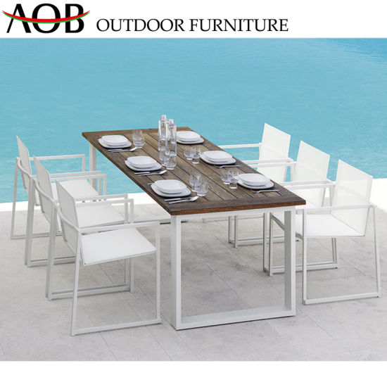 Modern Wholesale Outdoor Living Garden Patio Hotel Bar Furniture Beach Chairs Dining Table Set